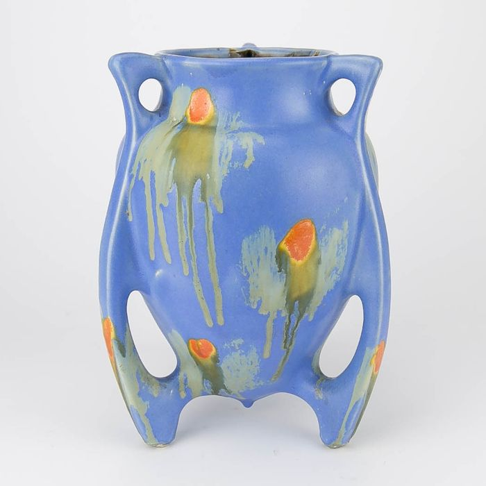 Faiencerie de Thulin - Art Deco vase with drip glaze
