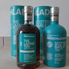Bruichladdich 2001 The Laddie Ten (The First of the Line) & Scottish Barley - Original bottling - 70 cl - 2 botellas