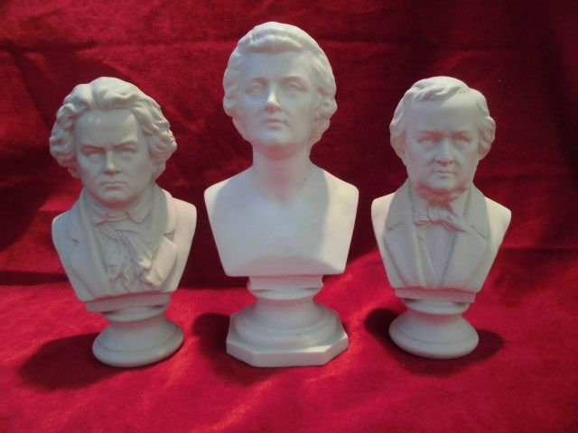 Kister Porzellan, Scheibe Ansbach - Mozart, Beethoven, Wagner (3) - Porcelaine
