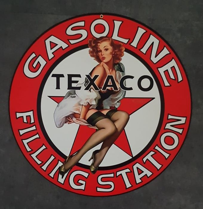 Decorative object - TEXACO Gasoline Filling Station USA Garage reclame decoratie adverstising Greg Hildebrandt - Texaco - 1990-2000