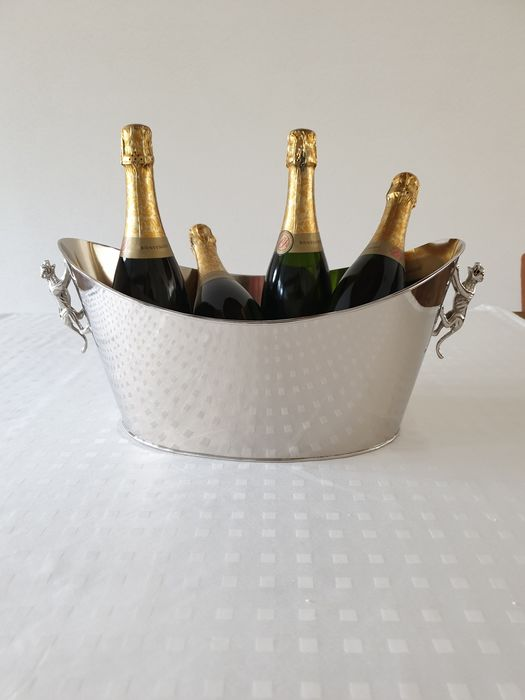 Wine / Champagne cooler 'Panther' - Silver plate (1) - Silverplate