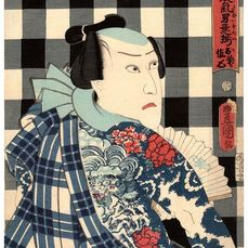 "Origineel houtblok print - Washi-papier - Getatoeëerde man - Utagawa Kunisada (1786-1865) - The Fireman Sashichi 佐七 - From the series ""Dashing Men Who Have Taken Alternate Names"" 異名取気男意揃 - Japan - 1859 (Ansei 6), 6e maand"