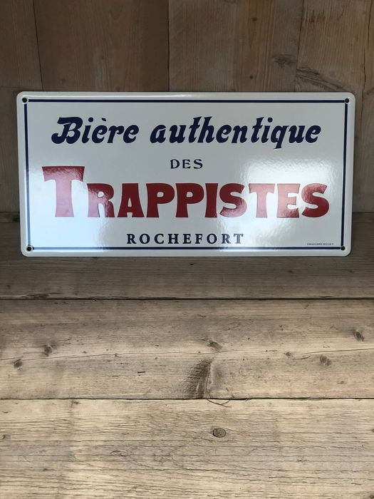 Emaille bord trappisten Rochefort (1) - Emaille