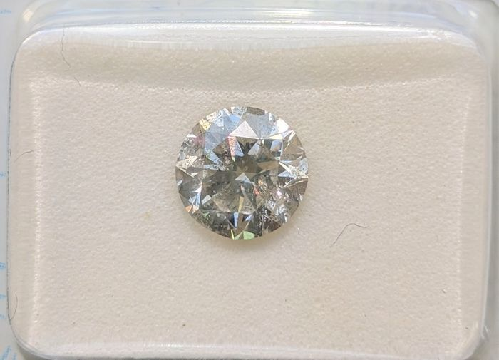 Diamant - 1.34 ct - Brillant - J - SI3, No Reserve Price
