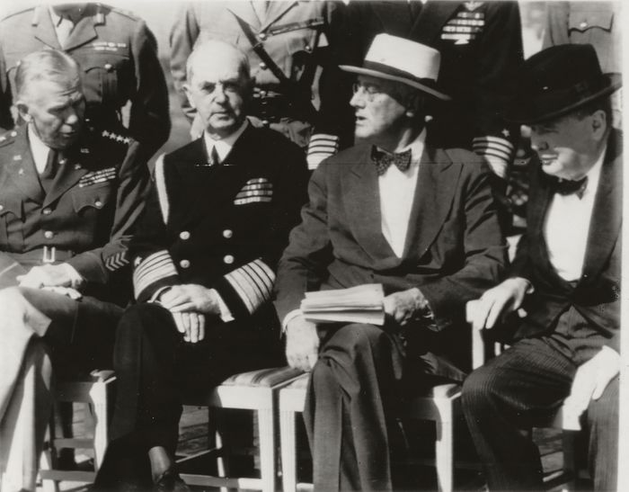 Unknown /Associated Press Photos - WWII, Quebec Conference 1944, Roosevelt & Churchill