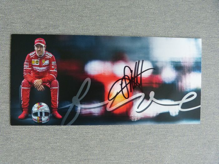 Sebastian Vettel - fan card