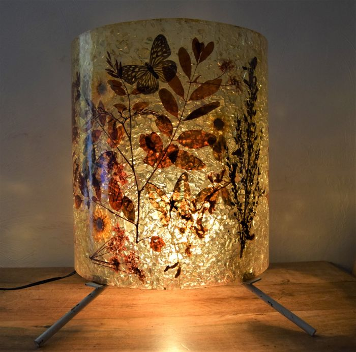Atelier Accolay - Lamp with fractal resin shade from the 70s (1)