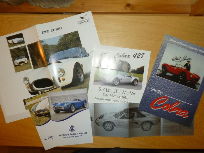 Brochures / catalogues - Lot of 7 AC / Cobra brochures ( Shelby ) - AC, Shelby