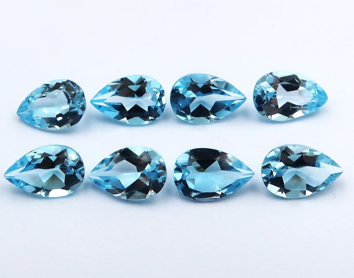 8 pcs  Topas - 11.95 ct