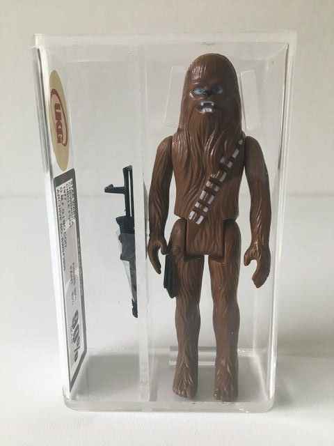 Star Wars - Kenner - Pupazzetto vintage - 1977 - Chewbacca Circle Foot UKG Graded Gold