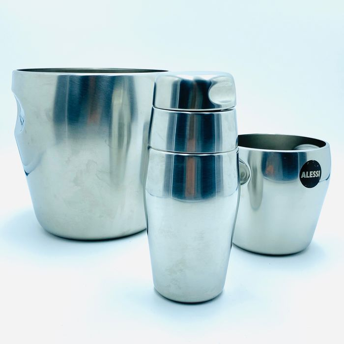 Luigi Massoni & Carlo Mazzeri - Alessi - Wine cooler, ice bucket and cocktail shaker (3)