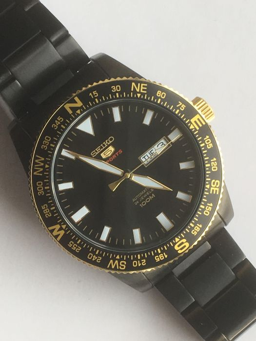 "Seiko - ""NO RESERVE PRICE"" Black Gold - 4R36-0480 - Men - 2011-present"