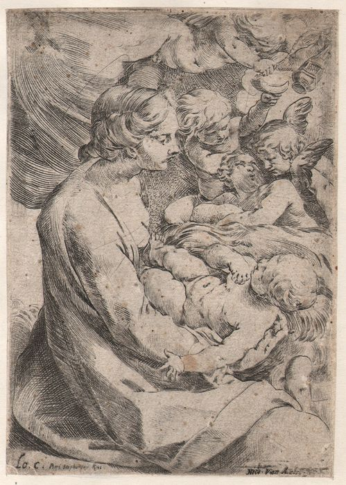 Lodovico Carracci (1555 - 1619) - Madonna And Child