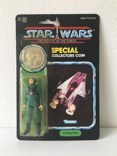 Star Wars - The Power of the Force - Kenner - Pupazzetto - vintage - 1984 - A-Wing Pilot Last 17