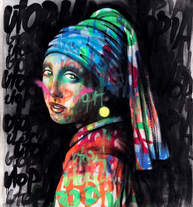 UTOPIA - Girl with a Pearl Earring - Vandal bubble -