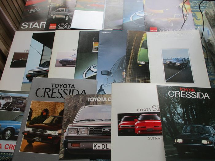 Folletos / Catálogos - inclusief Carina/Corona/Cressida/MR2/Supra/Crown (1979-1991) - Toyota