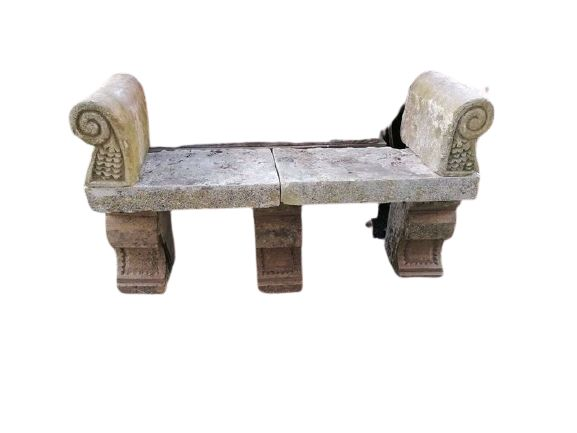 Ancient Bench Seat In Stone - Stone (mineral stone) - 19th century