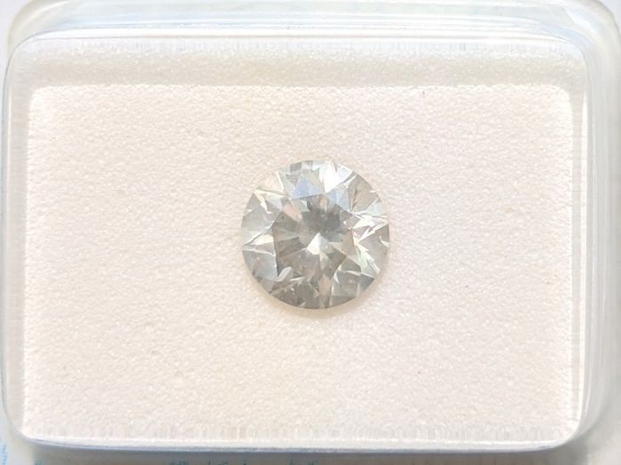 Diamant - 1.00 ct - Brillant - Fncy Light Yellowish Grey - SI1, No Reserve Price