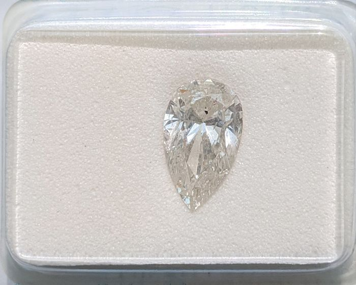 Diamante - 1.03 ct - Pera - I - SI2, No Reserve Price