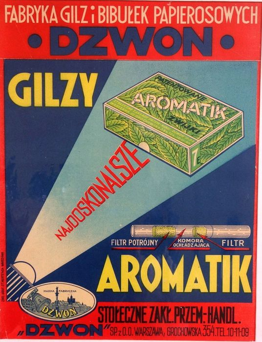 Unknown - Aromatic thimbles - Polish advertising poster from the 1930s - 1930