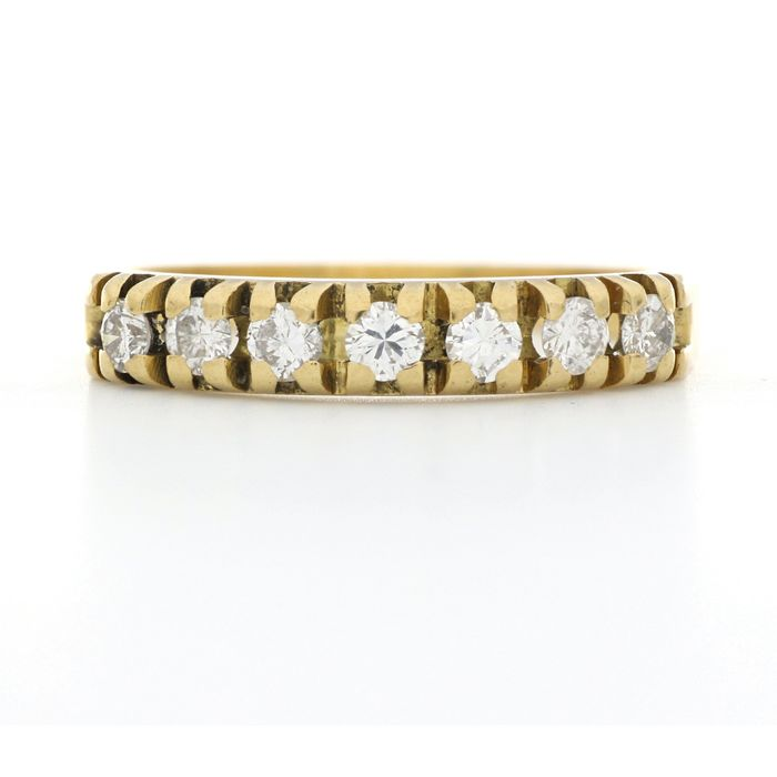 18 kt. Yellow gold - Ring - 0.35 ct Diamond