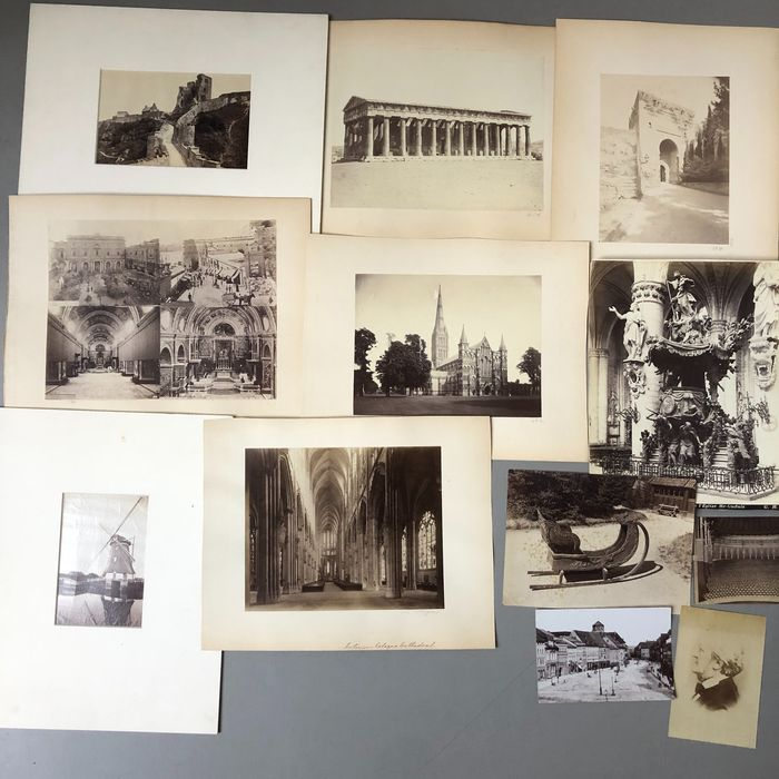 12 photographs by unidentified Photographers (19th century) - Bruxelles, Athens, Norway, England, Malta, Spain, Germany & The Netherlands