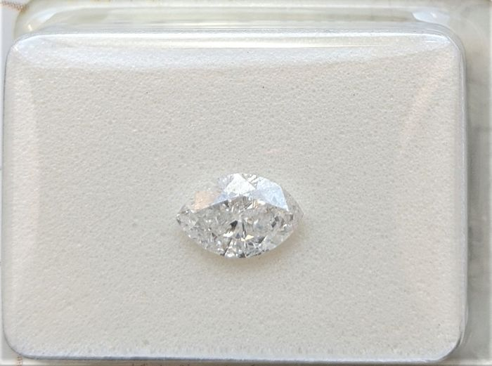 Diamante - 0.46 ct - Marquesita - D (incoloro) - SI2, No Reserve Price