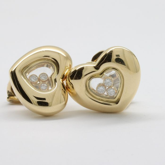 Chopard - 18 quilates Oro - Pendientes - 0.30 ct Diamante
