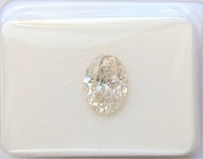 Diamant - 1.00 ct - Oval - K - SI3, No Reserve Price
