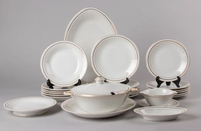 Limoges - Table service for 6 - Porcelain
