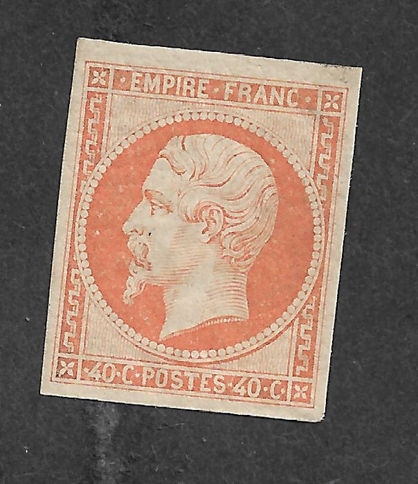 Frankreich 1853/1853 - No. 16, MNH, with Calves certificate. - Yvert 16