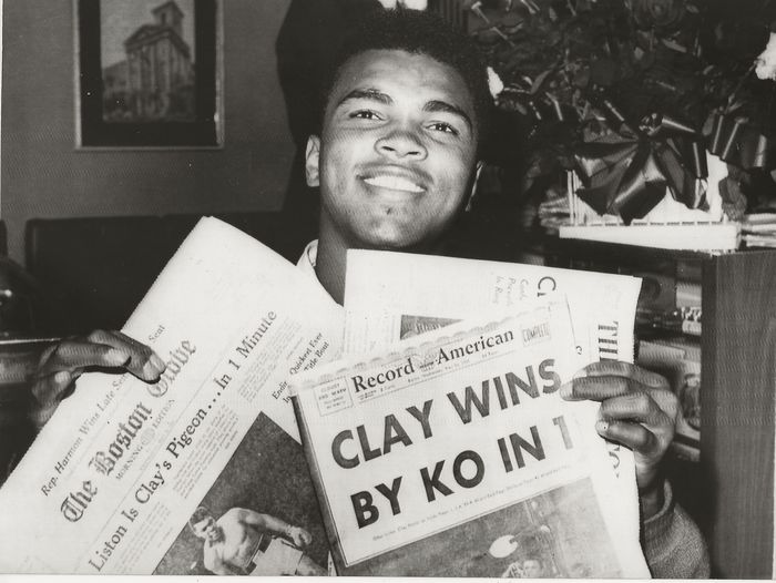 Unknown / United Press International (UPI) - Cassius Clay/Muhammad Ali knocked out Sonny Liston in the first round, 1965