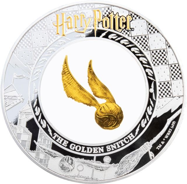 "Samoa. 5 Dollars 2020 Proof - ""HARRY POTTER"" - The Golden Snitch - 2 Oz"