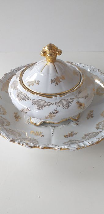Richard Ginori - plate and bon bon holder (2) - Porcelain