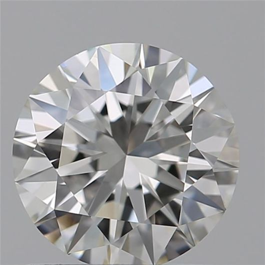 1 pcs Diamant - 0.40 ct - Briljant - H - IF (intern zuiver)