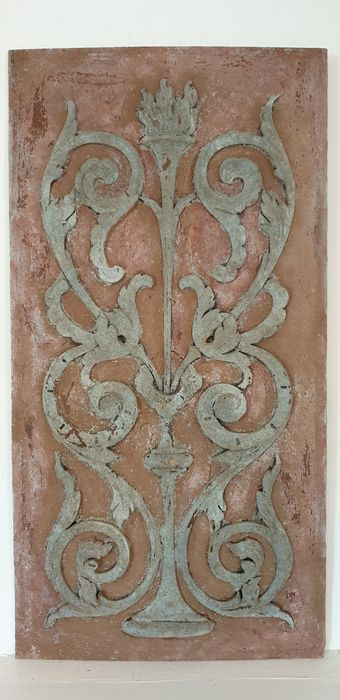 Plaque, wall element - Painted Wood - 20th century