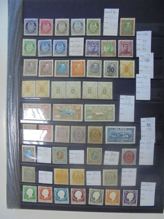 Norway and Iceland 1873/1925 - Lot of classic stamps from Norway and Iceland, mint** and mint* - Yvert