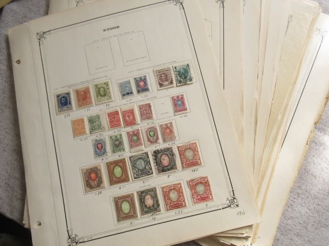 Russia - Collection of stamps including other countries and Europe.