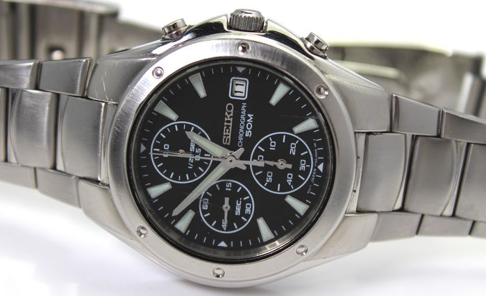 "Seiko - ""NO RESERVE PRICE""  Chronograph - Men - 2011-present"