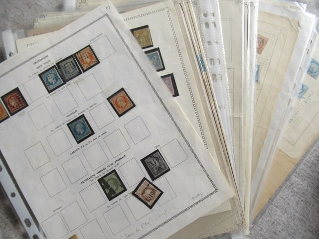 Frankreich - Classic stamps, study of cancellations.