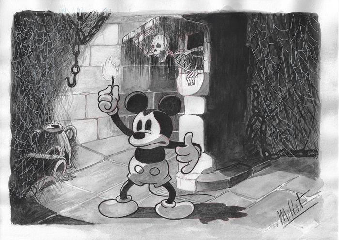 Mickey Mouse - Original Painting DIN A3 - Millet - EO