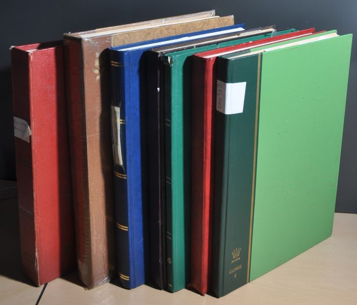 British Commonwealth - Batch with English-speaking countries in various stock books