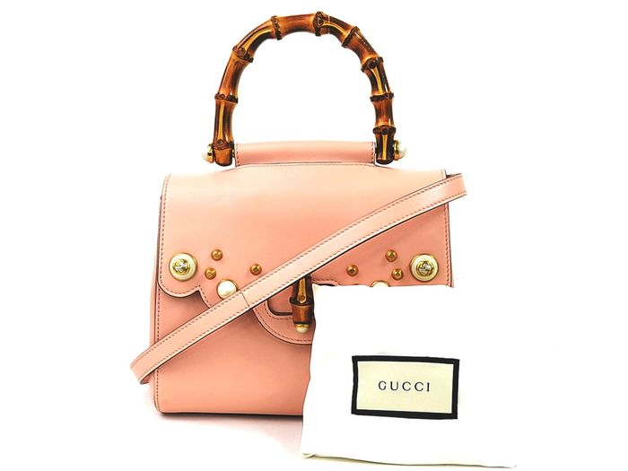 Gucci - Pink Gucci Pearly Peony Leather Handbag