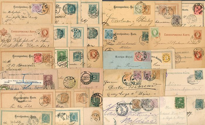 Austria 1863 - Lot with 38 documents with specialties
