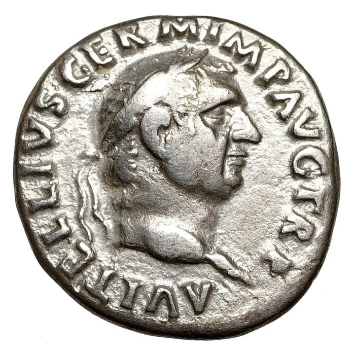 Empire romain. Vitellius (69 apr. J.-C.). AR Denarius,  Rom, Libertas - Rare