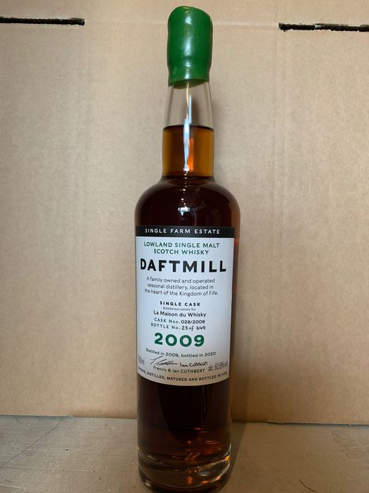 Daftmill 2009 11 years old Single Cask 2009 for LMDW - Original bottling - b. 2020 - 70cl