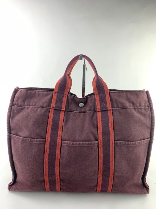 Hermès - UNISEX NO RP-Purple  Fourre Tout BIG Tote bag