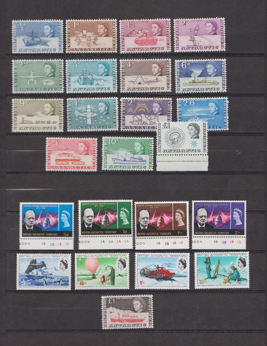 British Antarctic Territory 1963/1974 - Selection of complete series