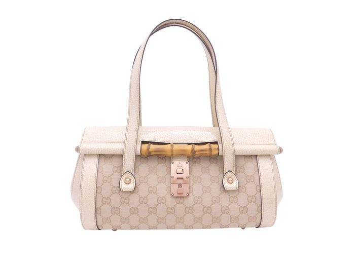 Gucci - GG Canvas Bamboo Shoulder bag