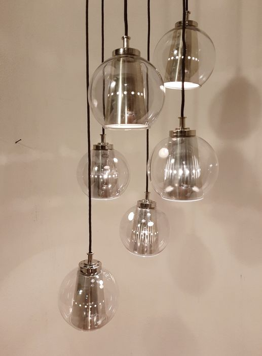 Targetti Sankey - Ceiling lamp with 6 pendants